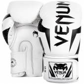 Боксови Ръкавици - VENUM ELITE BOXING GLOVES - WHITE/BLACK