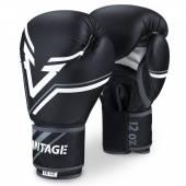 Боксови Ръкавици - Vantage Boxing Gloves Combat Elastic - Black