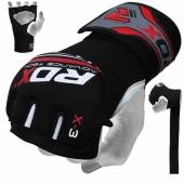 РЪКАВИЦИ - RDX NEOPRENE GEL GRAPPLING GLOVES / RED-BLACK