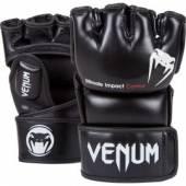 ММА РЪКАВИЦИ - VENUM - IMPACT MMA GLOVES - BLACK - SKINTEX LEATH