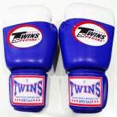 Боксови Ръкавици Естествена Кожа - TWINS / BG-4 BLUE