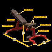 Регулируема пейка leverage Gym bench GFID100