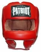 Боксова каска с метална шина Patriot HGL-018 - червена