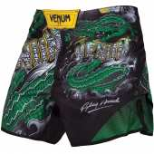 Шорти - VENUM CROCODILE FIGHTSHORTS BLACK/GREEN
