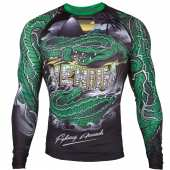 Рашгард - VENUM CROCODILE RASHGUARD LONG SLEEVES BLACK/GREEN