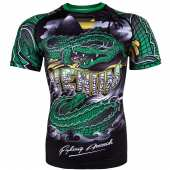 Рашгард - VENUM CROCODILE RASHGUARD SHORT SLEEVES BLACK/GREEN