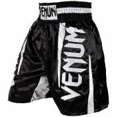 Шорти за Бокс - VENUM ELITE BOXING SHORTS BLACK/WHITE