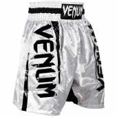Шорти за Бокс - VENUM ELITE BOXING SHORTS WHITE / BLACK
