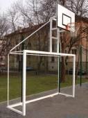 Комбиниран уред - футболна врата и баскетболен кош